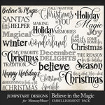 Believe in the Magic WordArt Pack-$3.99 (Jumpstart Designs)