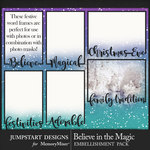 Believe in the Magic Word Frames Pack-$2.99 (Jumpstart Designs)