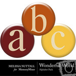 Wonderful World Alphabet Pack-$0.99 (Melissa Nuttall)