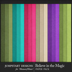 Believe in the Magic Solid Paper Pack-$2.99 (Jumpstart Designs)