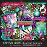 Believe in the Magic Embellishment Pack-$4.99 (Jumpstart Designs)