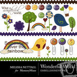 Wonderful World Embellishment Pack-$3.00 (Melissa Nuttall)