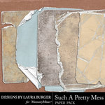 Such A Pretty Mess Tattered Paper Pack-$5.99 (Laura Burger)