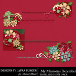 My Memories December Clusters Pack-$3.49 (Laura Burger)