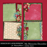 My Memories December Stacked Papers-$3.49 (Laura Burger)