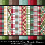 My Memories December Textural Papers-$3.99 (Laura Burger)