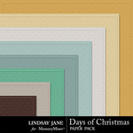 Days of Christmas Embossed Paper Pack-$1.99 (Lindsay Jane)