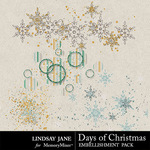 Days of Christmas Scatterz Pack-$1.99 (Lindsay Jane)
