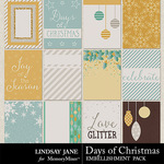 Days of Christmas Journal Cards Pack-$1.99 (Lindsay Jane)