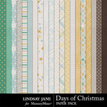 Days of Christmas Paper Pack-$2.49 (Lindsay Jane)