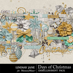 Days of Christmas Embellishment Pack-$3.49 (Lindsay Jane)