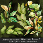 Watercolor Leaves 3-$4.99 (Jumpstart Designs)