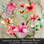 Watercolor Blooms 7-$4.99 (Jumpstart Designs)