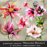 Watercolor Blooms 6-$4.99 (Jumpstart Designs)