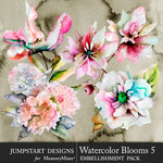 Watercolor Blooms 5-$4.99 (Jumpstart Designs)