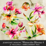 Watercolor Blooms 4-$4.99 (Jumpstart Designs)