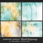 Blissful Beginnings Water Color Papers-$3.99 (Jumpstart Designs)