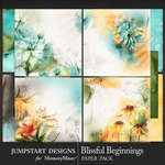 Blissful Beginnings Artful Paper Pack-$3.99 (Jumpstart Designs)