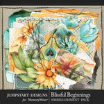 Blissful Beginnings Torn Art Pack-$3.99 (Jumpstart Designs)