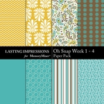 Oh Snap Week 1-4 Paper Pack-$1.99 (Lasting Impressions)