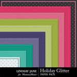 Holiday Glitter Embossed Paper Pack-$1.99 (Lindsay Jane)
