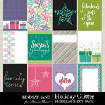 Holiday Glitter Journal Cards Pack-$1.40 (Lindsay Jane)
