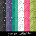 Holiday Glitter Glitter Paper Pack-$1.99 (Lindsay Jane)