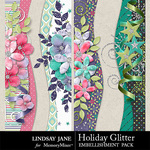 Holiday Glitter Borders Pack-$1.99 (Lindsay Jane)