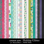 Holiday Glitter Paper Pack-$2.49 (Lindsay Jane)