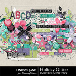 Holiday Glitter Embellishment Pack-$3.49 (Lindsay Jane)