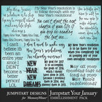 Jumpstart Your January 2017 WordArt Pack-$3.99 (Jumpstart Designs)