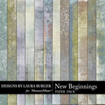 New Beginnings LB Grunge Paper Pack-$3.99 (Laura Burger)
