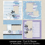 Let It Snow LJ Quick Pages-$2.49 (Lindsay Jane)