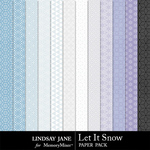 Let It Snow LJ Pattern Paper Pack-$1.99 (Lindsay Jane)