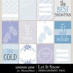 Let It Snow LJ Journal Cards Pack-$1.99 (Lindsay Jane)