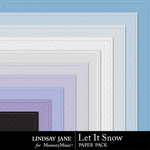 Let It Snow LJ Embossed Paper Pack-$1.99 (Lindsay Jane)