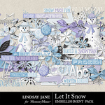 Let It Snow LJ Embellishment Pack-$3.49 (Lindsay Jane)