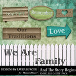 And The Story Begins LB Wood Embellishments-$4.99 (Laura Burger)