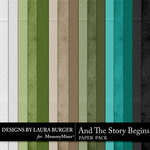And The Story Begins LB Solid Paper Pack-$2.99 (Laura Burger)