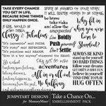 Take a Chance WordArt Pack-$3.99 (Jumpstart Designs)