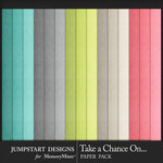 Take a Chance Solid Paper Pack-$3.99 (Jumpstart Designs)