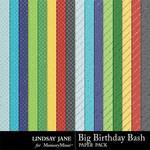 Big Birthday Bash Glitter Paper Pack-$1.99 (Lindsay Jane)