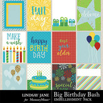 Big Birthday Bash Journal Cards Pack-$1.99 (Lindsay Jane)