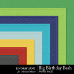 Big Birthday Bash Embossed Paper Pack-$1.99 (Lindsay Jane)