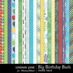 Big Birthday Bash Paper Pack-$2.49 (Lindsay Jane)