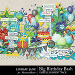 Big Birthday Bash Embellishment Pack-$3.49 (Lindsay Jane)