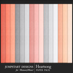 Heartsong Solid Paper Pack-$3.99 (Jumpstart Designs)