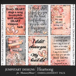 Heartsong Quote Cards Pack-$2.99 (Jumpstart Designs)