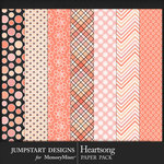 Heartsong Patterned Paper Pack 2-$2.99 (Jumpstart Designs)