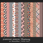 Heartsong Patterned Paper Pack 1-$2.99 (Jumpstart Designs)